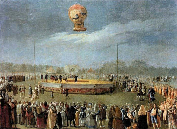Carnicero, Antonio Ascent of the Balloon in the Presence of Charles IV and his Court China oil painting art