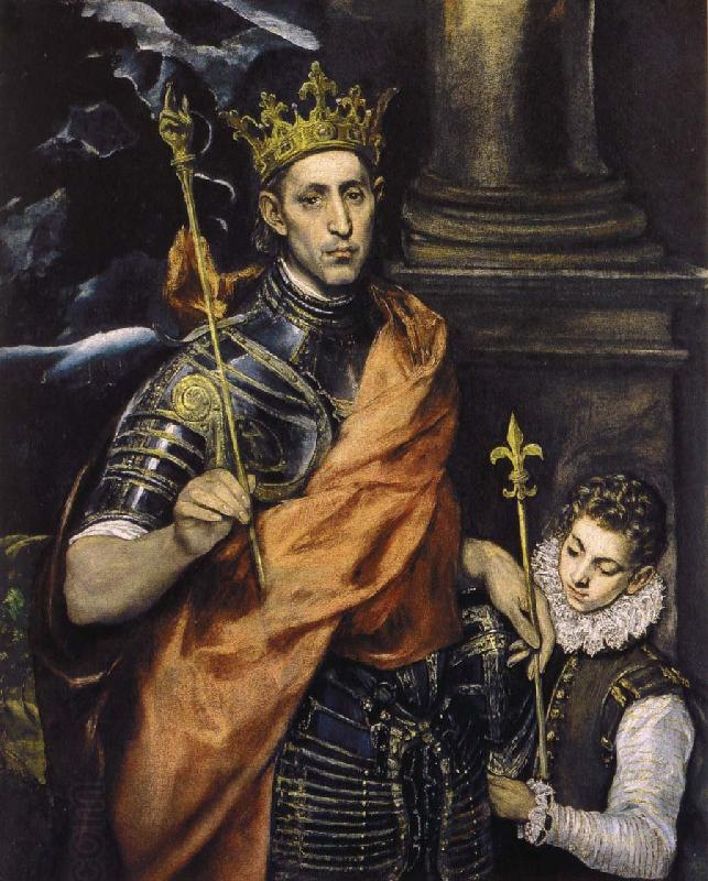El Greco St Louis,King of France,with a Page