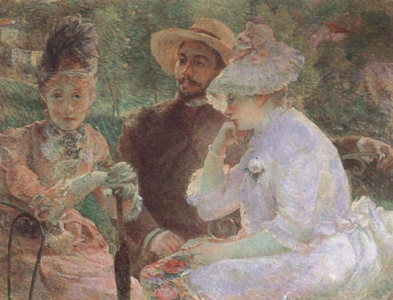 Marie Bracquemond On the Terrace at Sevres oil painting picture