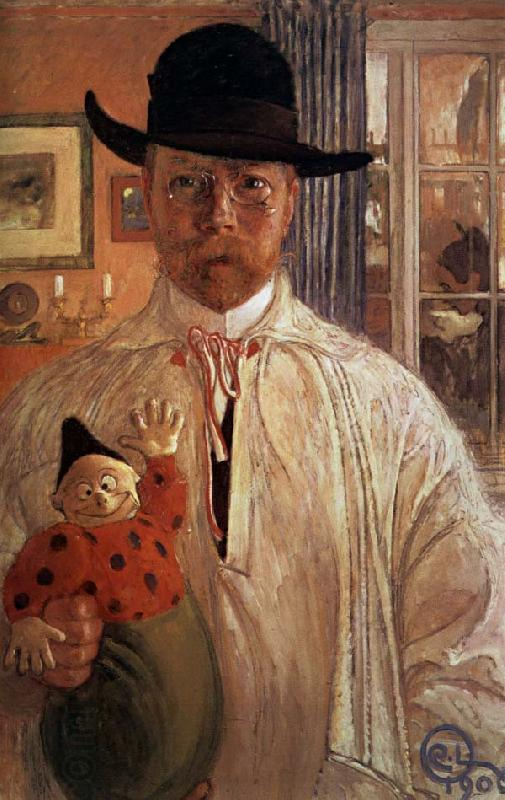 Carl Olaf Larsson Self-Portrait oil painting picture