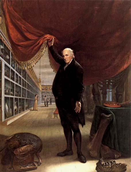 Charles Willson Peale The Artist in his Museum oil painting picture