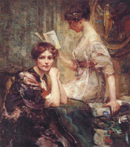 Colin Campbell Cooper Deux femmes image peinture à l'huile