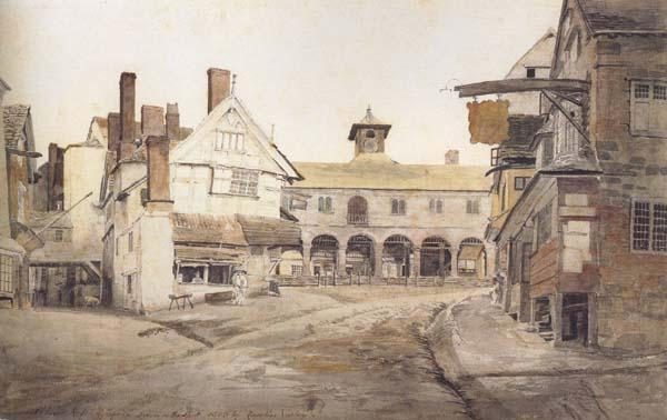 Cornelius Varley Ross Market Place,Herefordshire a sketch on the spot (mk47)