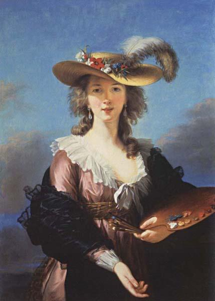 Elisabeth-Louise Vigee-Lebrun Self-Portrait in a Straw oil painting picture