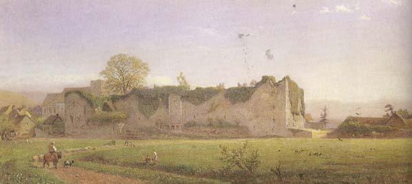 Henry George Hine,RI Amberley Castle (mk46) oil painting picture