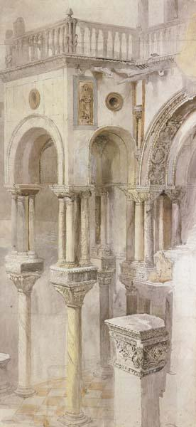John Ruskin,HRWS The South Side of the Basilica fo St Mark's,Venice,Seen from the Loggia of the Doge's Palace (mk46)