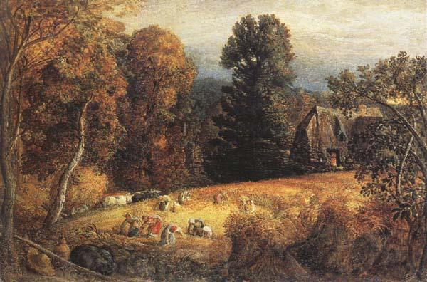 Samuel Palmer The Gleaning Field oil painting picture