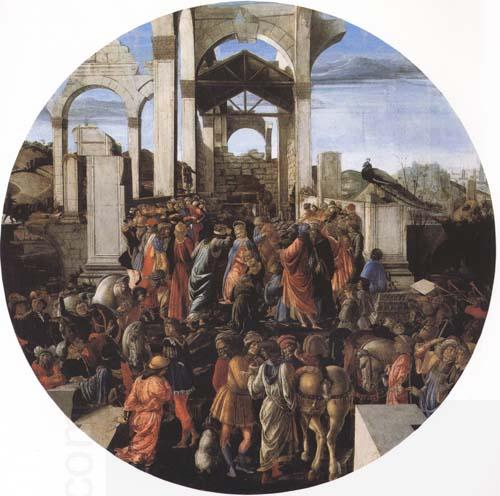 Sandro Botticelli Adoration of the Magi oil painting picture
