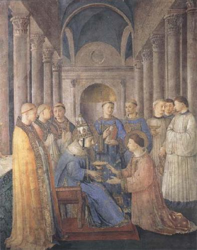 Sandro Botticelli Fra Angelico,Ordination of St Lawrence