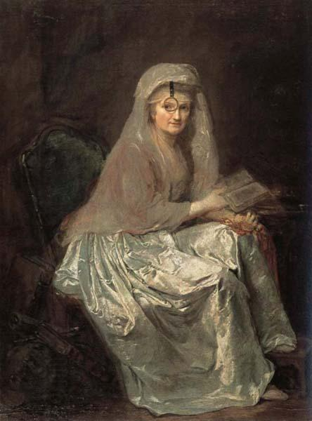 anna dorothea therbusch Self-Portrait oil painting picture