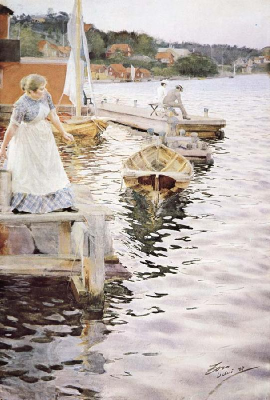 Anders Zorn vagskvalp oil painting picture