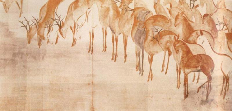 Caravaggio poem scroll with deer
