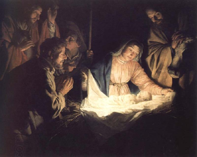 Gerrit van Honthorst adoration of the shepherds oil painting picture