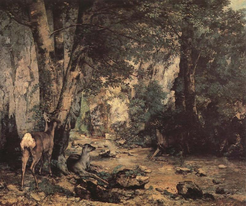Gustave Courbet Deer oil painting picture