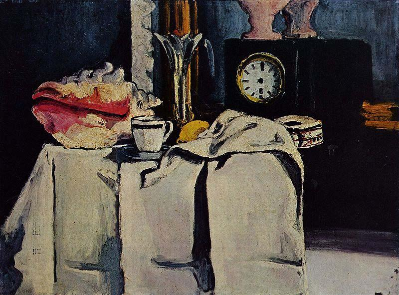 Paul Cezanne The Black Marble Clock