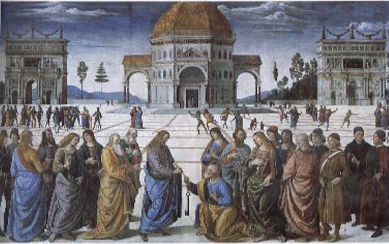 Pietro Perugino Christian kingdom of heaven will be the key to St. Peter's oil painting picture