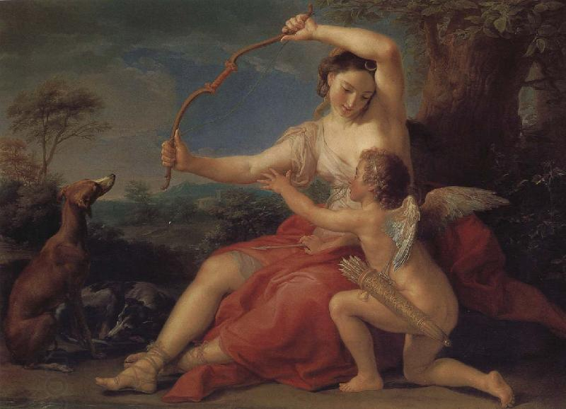 Pompeo Batoni Cupid and Diana oil painting picture
