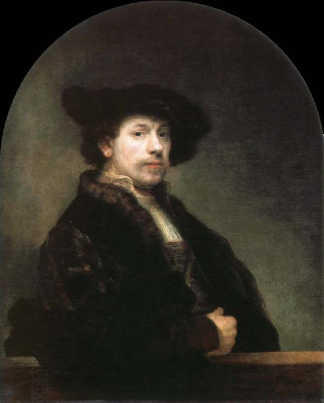 Rembrandt van rijn self portrait at the age of 34 oil painting picture