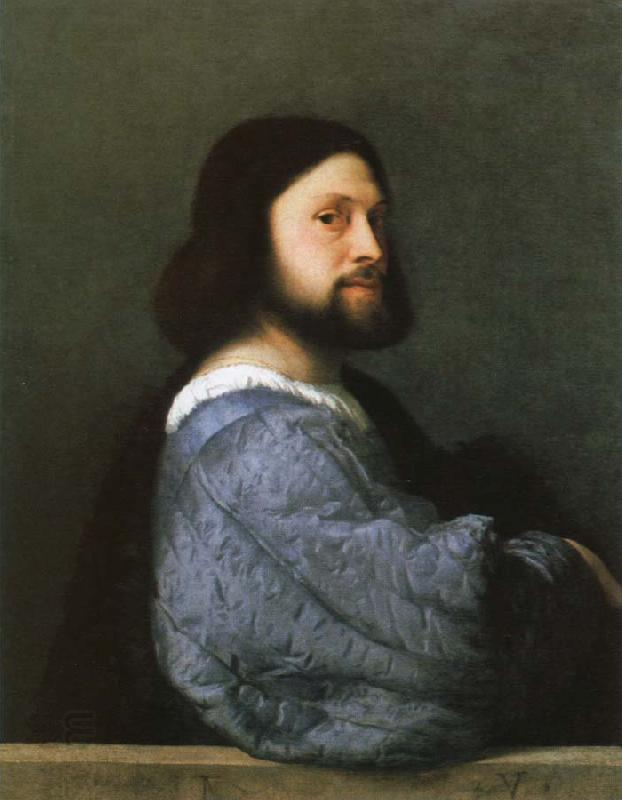 Titian portrait of a man oil painting picture