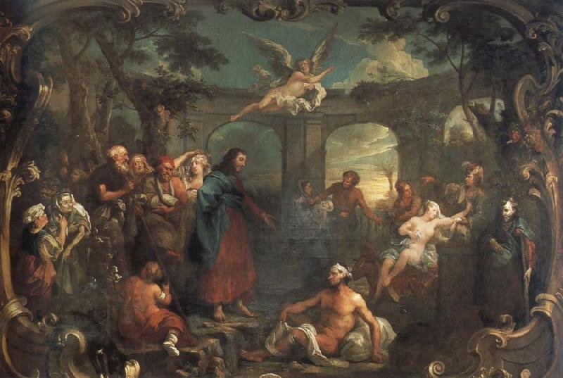 William Hogarth christ at the pool of bethesda oil painting picture
