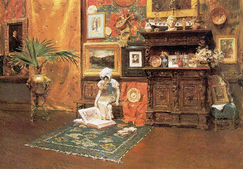 William Merritt Chase In the Studio oil painting picture