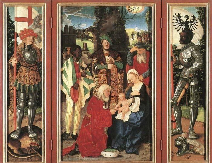 BALDUNG GRIEN, Hans Adoration of the Magi oil painting picture