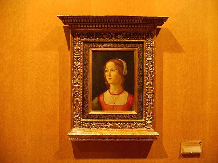 Domenico Ghirlandaio Portrait of a Young Woman oil painting picture
