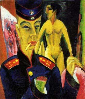 Ernst Ludwig Kirchner Self Portrait as a Soldier oil painting picture