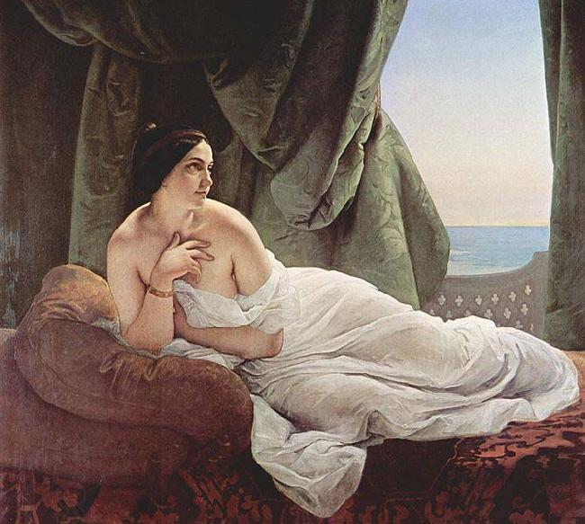 Francesco Hayez Odalisque Reclining