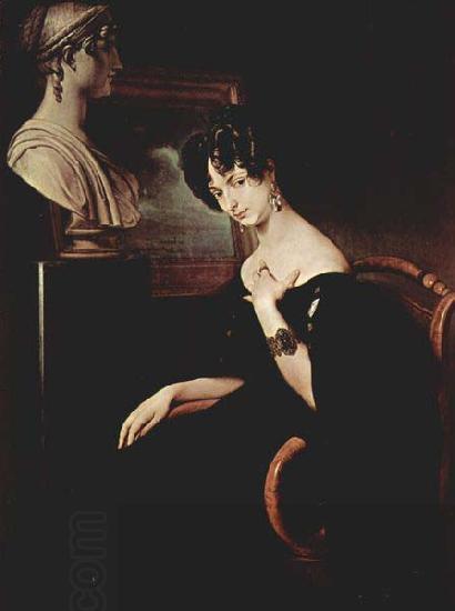 Francesco Hayez Portrait of Cristina di BelgiojosoTrivulzio