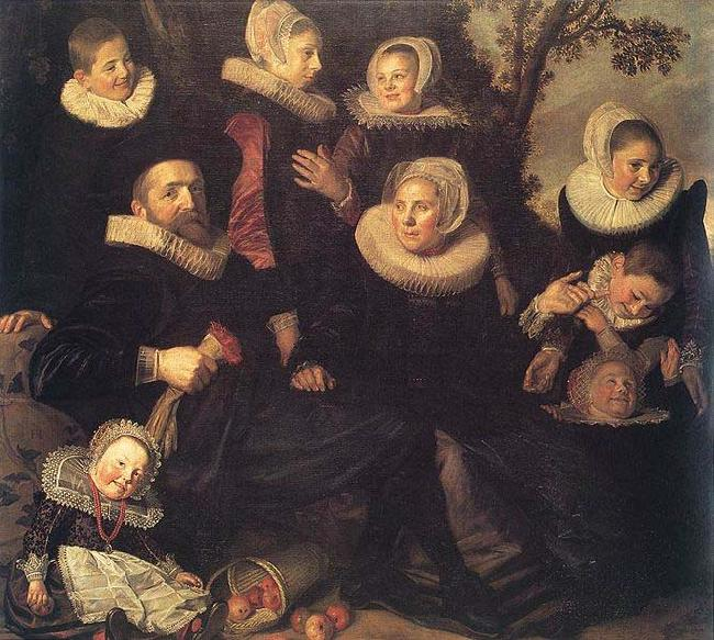 Frans Hals Family Portrait in a Landscape WGA oil painting picture