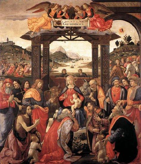 GHIRLANDAIO, Domenico Adoration of the Magi oil painting picture