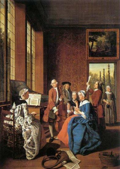 HOREMANS, Jan Jozef II Concert in an Interior oil painting picture
