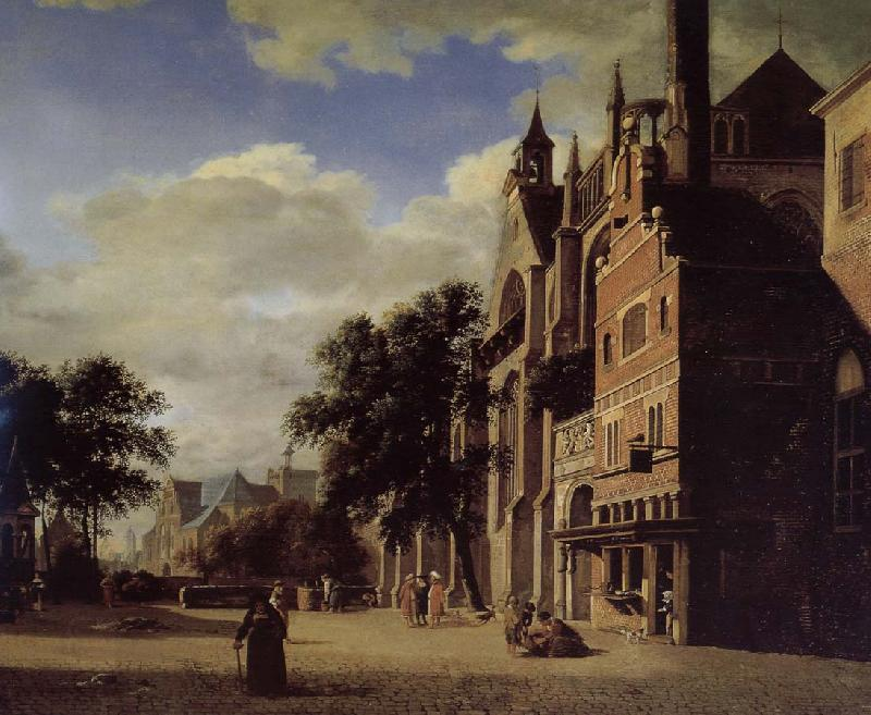 Gothic Churches Jan Van Der Heyden China Oil Paintings