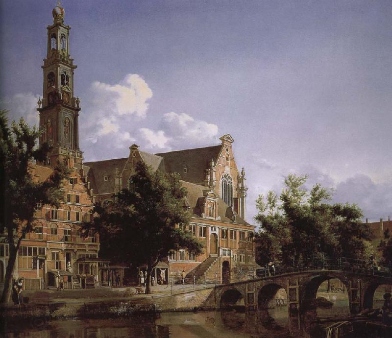 Jan van der Heyden Canal and Church of the scenic West