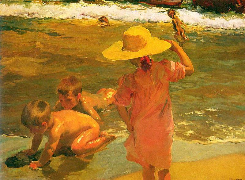Joaquin Sorolla Children on the Seashore, oil painting picture
