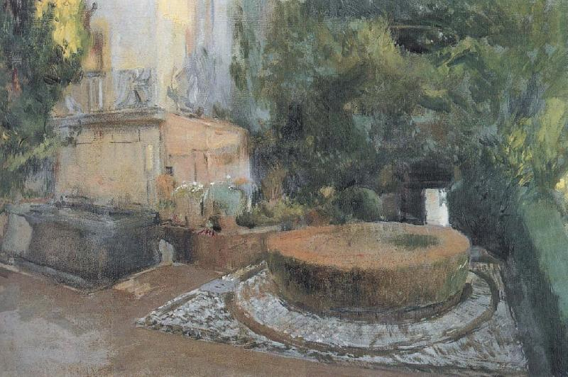 Joaquin Sorolla Fountain Garden oil painting picture