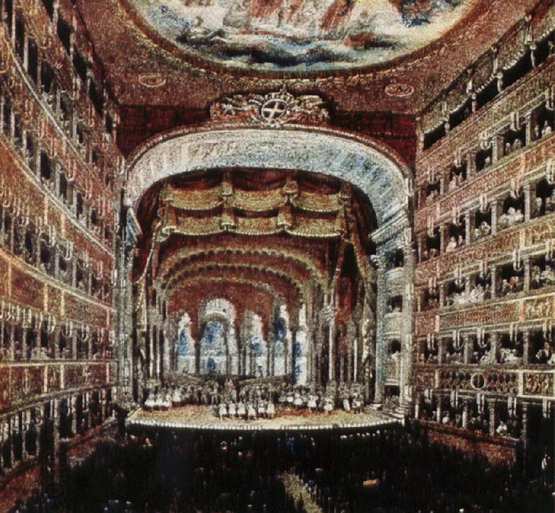 leigh hunt the interior of the teatro san carlo in naples where several of rossini s operas were fist performed