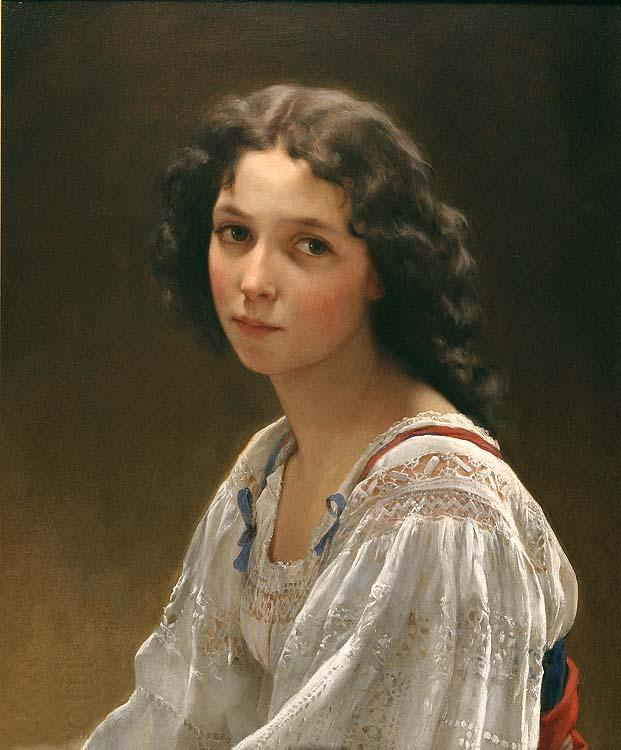 Emile Munier Head of a Young Girl oil painting picture