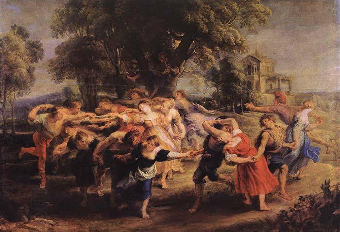RUBENS, Pieter Pauwel Dance of the Peasants oil painting picture