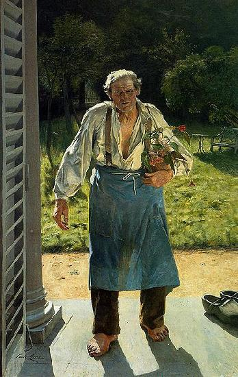 Emile Claus The Old Gardener China oil painting art