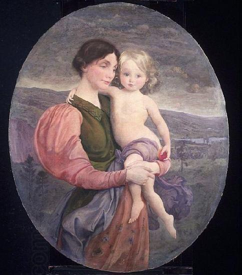 George de Forest Brush Mother and Child: A Modern Madonna oil painting picture