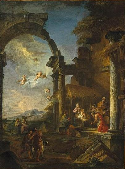 Giovanni Paolo Panini Adoration of the Shepherds oil painting picture
