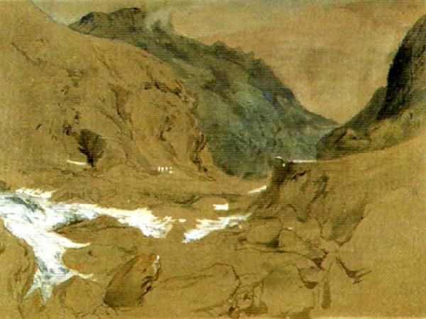 John Ruskin the pass of faido on the st gotthard oil painting picture