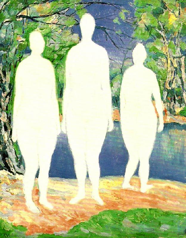 Kazimir Malevich bathing women oil painting picture