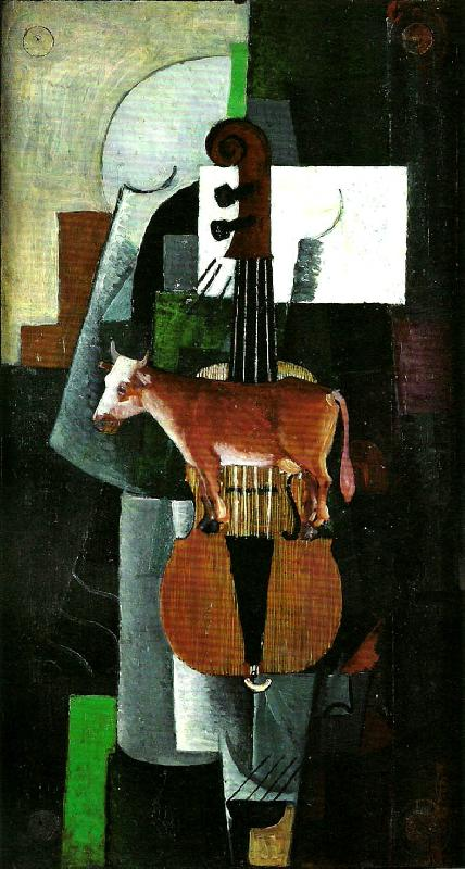 Kazimir Malevich cow and violin oil painting picture