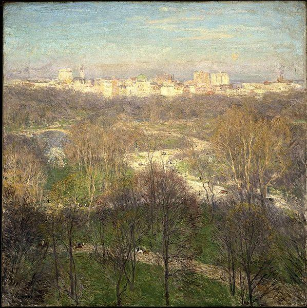 Willard Leroy Metcalf Early Spring Afternoon Central Park