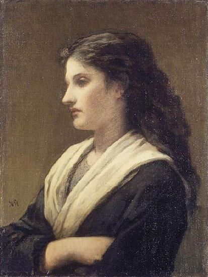 William Morris Hunt Study of a Female Head
