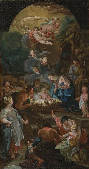 unknow artist Adoration of the Shepherds oil painting picture
