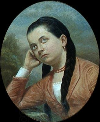 Almeida Junior Portrait of a young woman oil painting picture